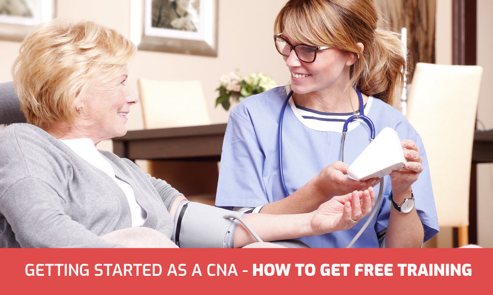 Getting started as a CNA - getting free training